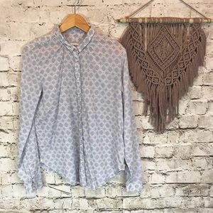Anthropologie Holding Horses Button Down Blouse